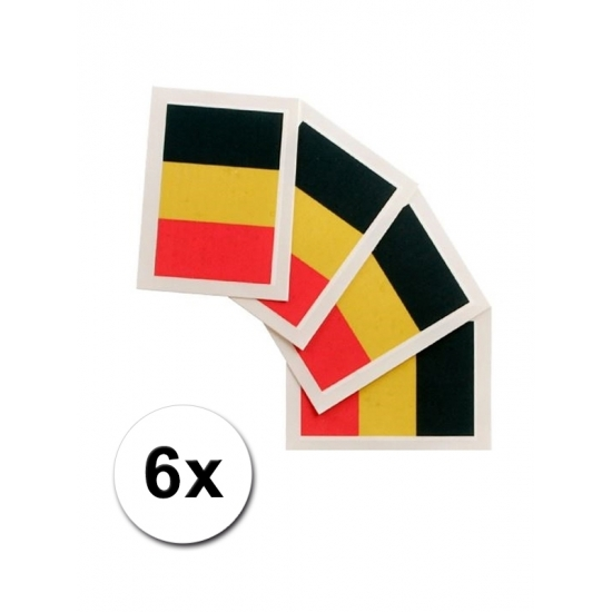 Image of 6 fan artikel Belgische tattoo stickers