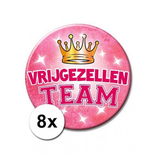 8 vrijgezellen feest XXL buttons roze