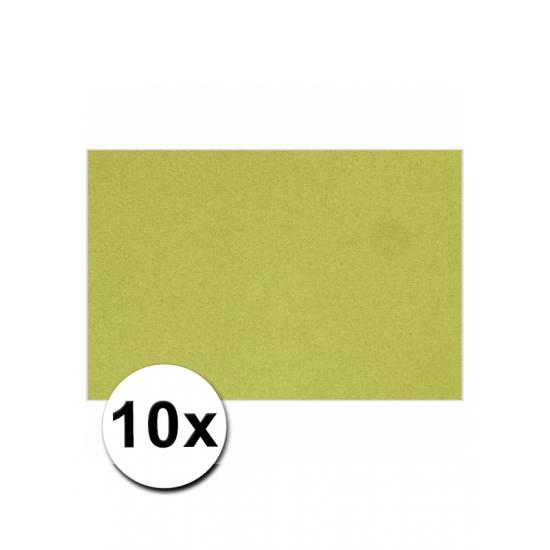 Image of A4 formaat karton in het groen 10x