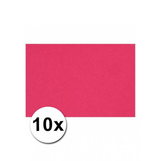 Image of A4 formaat karton in het roze 10x