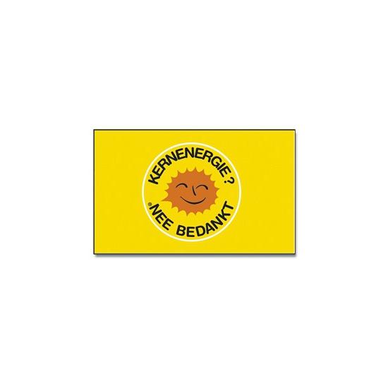 Image of Activisten vlag Kernenergie nee bedankt