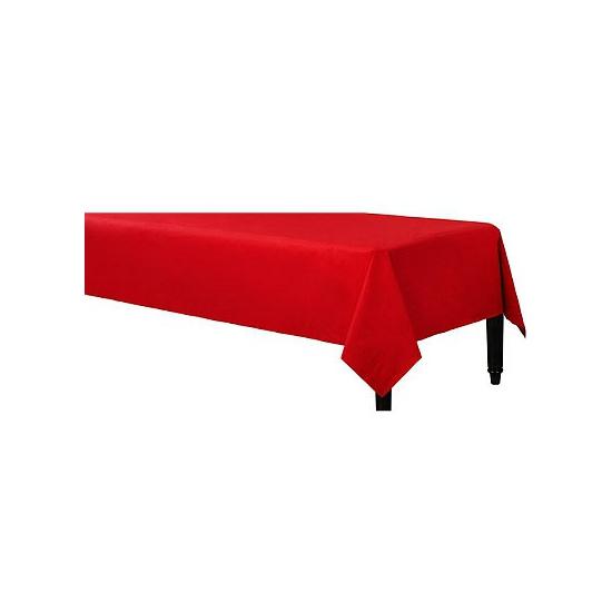 Image of Afneembaar tafelkleed rood 140 x 240 cm