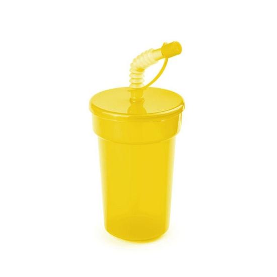 Image of Afsluitbare limonadebeker geel 400 ml