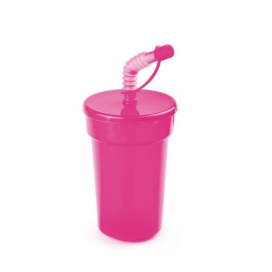 Image of Afsluitbare limonadebeker roze 400 ml