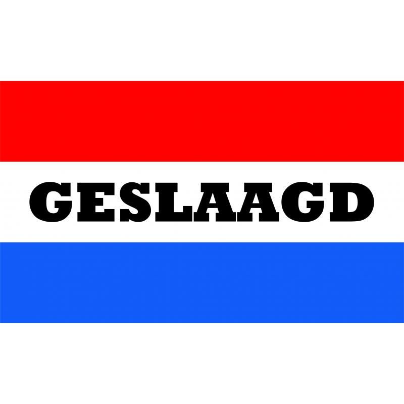 Image of Afstudeer vlag met Nederlandse kleuren 150 x 90 cm