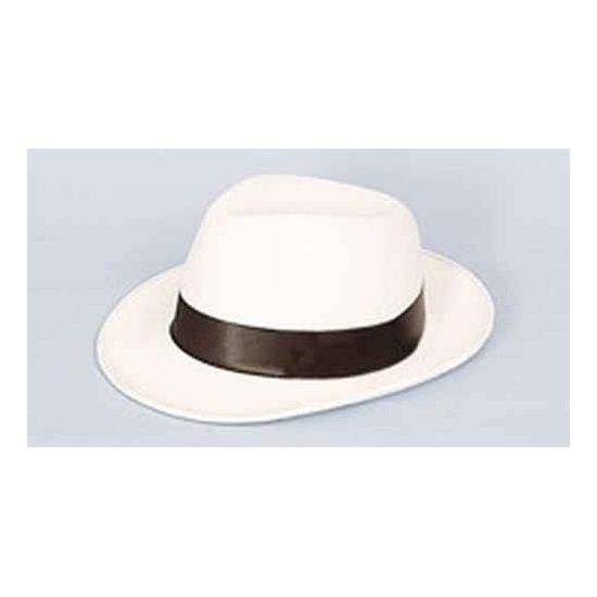 Image of Al Capone hoed wit met zwart
