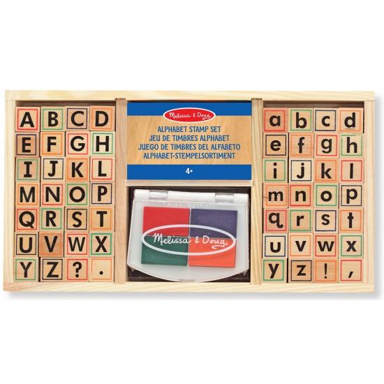 Image of Alfabet stempelsetje van hout