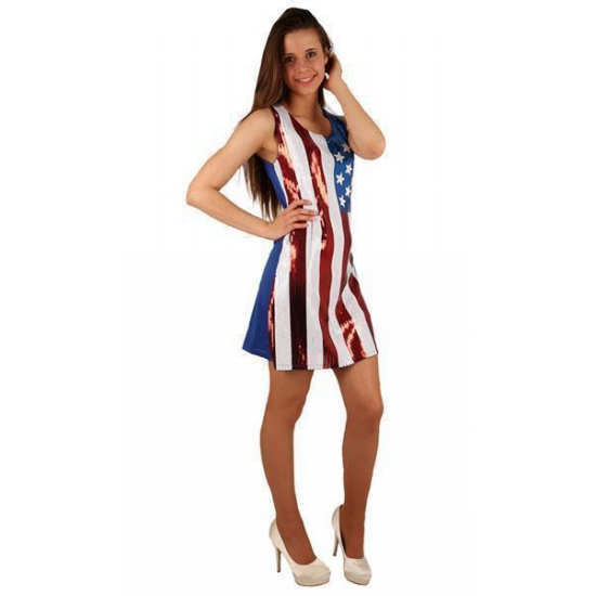 Image of Amerikaanse vlag pailletten jurk