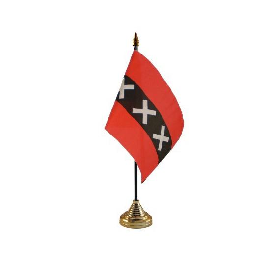 Image of Amsterdam vlaggetje voor op tafel