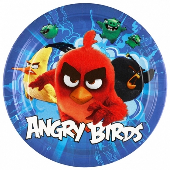 Image of Angry birds bordjes 8 stuks karton