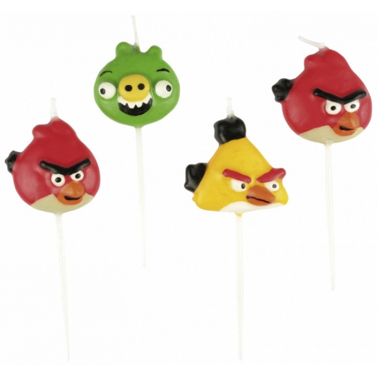 Image of Angry Birds mini kaarsjes 4 stuks