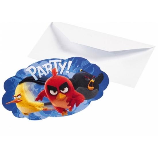 Image of Angry Birds uitnodigingen 8 stuks