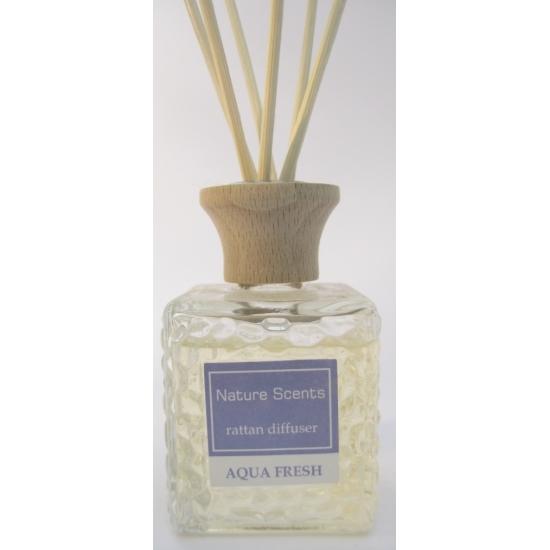 Image of Aqua fresh kamer parfum geur olie met stokjes 80 ml