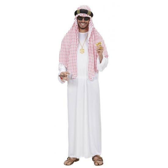 Arabische sjeik kostuum wit deluxe