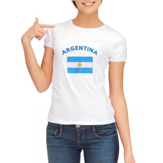 Image of Argentinie t-shirt met Argentijnse vlag print voor dames