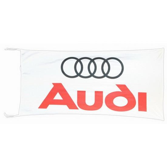 Image of Audi vlag wit 150 x 75 cm