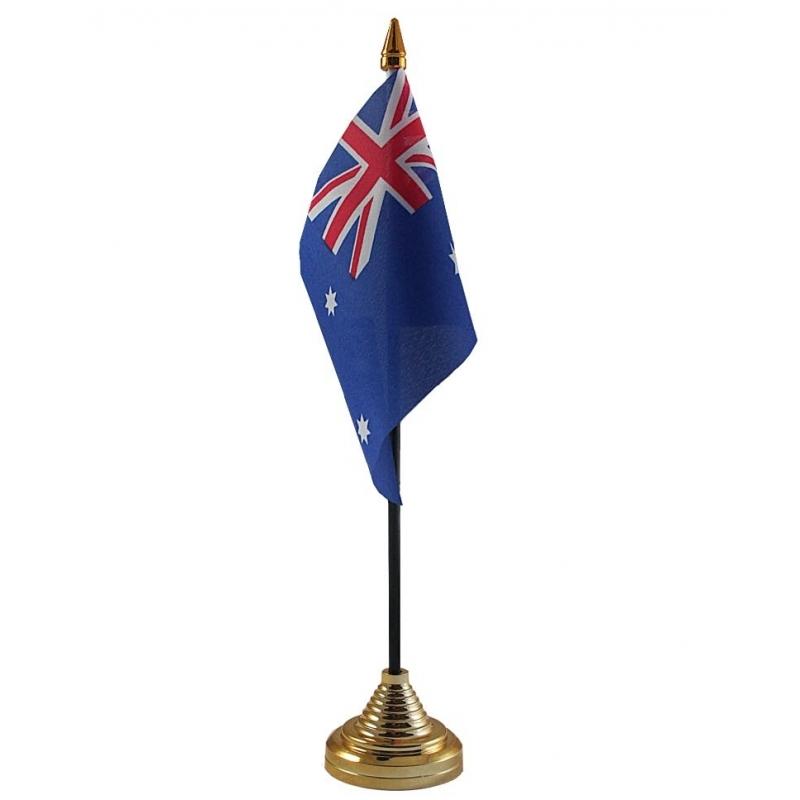 Image of Australie vlaggetje voor op tafel