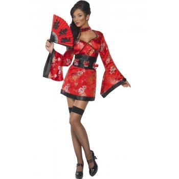 Image of Aziatisch kostuum voor dames rood