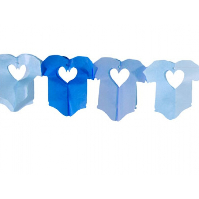 Image of Baby blauwe papieren slinger 6 meter