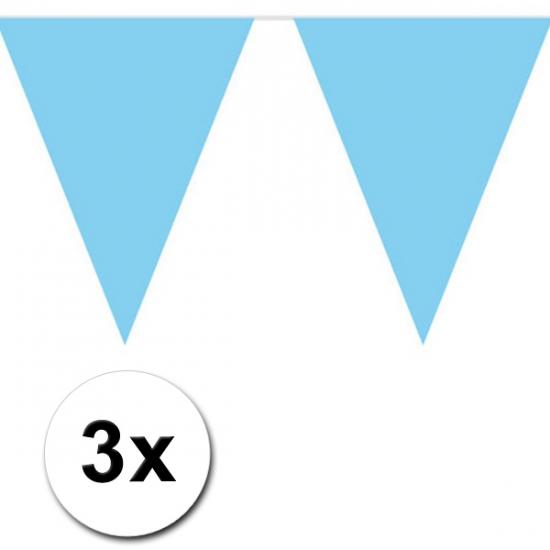 Image of Baby blauwe versiering vlaggenlijnen 3 stuks