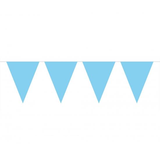 Image of Baby blauwe vlaggetjes slinger 10 meter