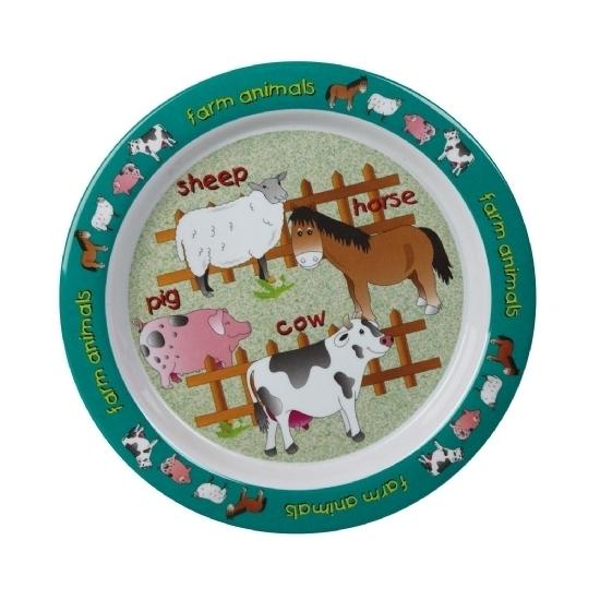 Image of Babybordje boerderij thema