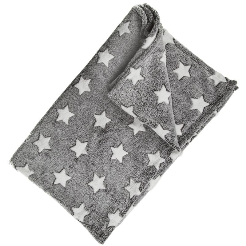 Image of Babykamer grijs dekentjes met sterren