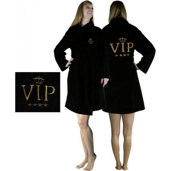 Image of Badjas zwart VIP