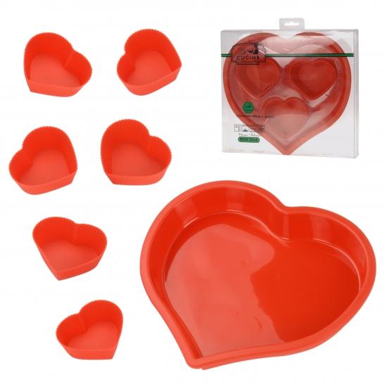 Image of Bakvormpjes hart 7 stuks