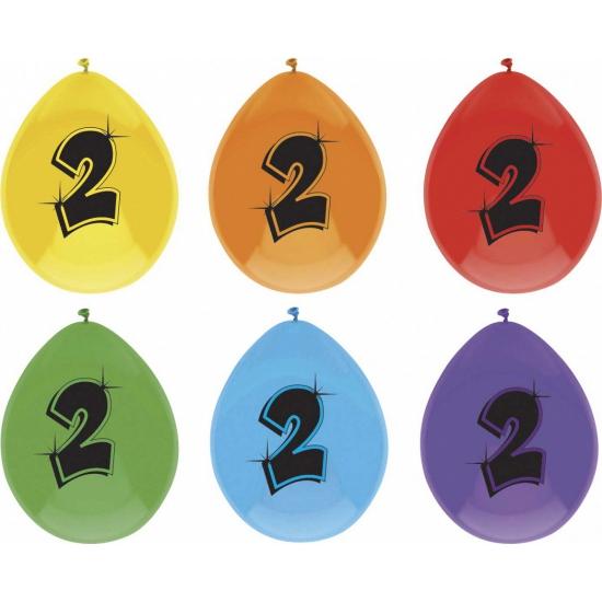 Image of Ballonnen 2 jaar 6 stuks