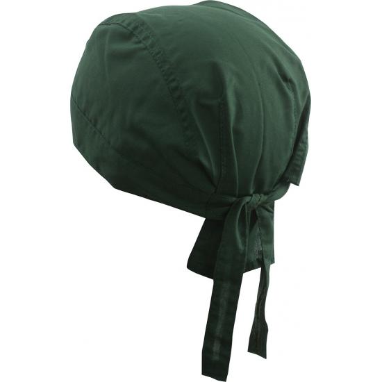 Image of Bandana donker groene kleur uni 1