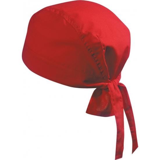 Image of Bandana in de kleur rood uni 1