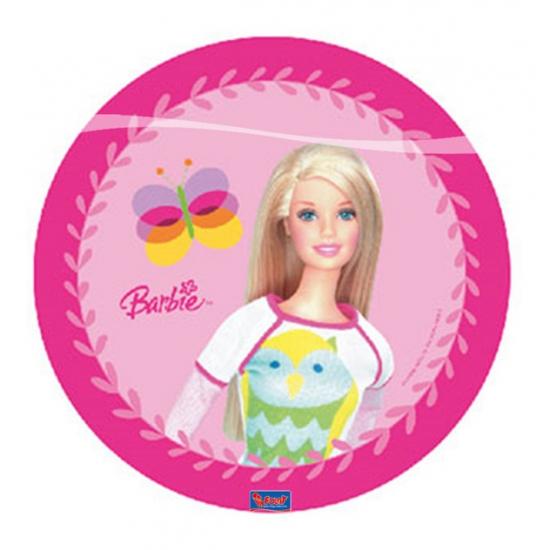 Image of Barbie roze bordjes 10 stuks
