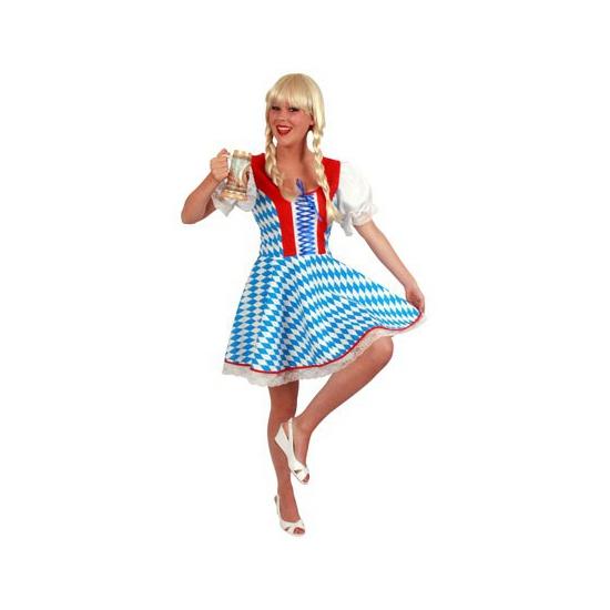 Oktoberfest jurk met bavaria print. blauw met witte oktoberfest jurk met de blauw en witte bavaria kleuren. ...