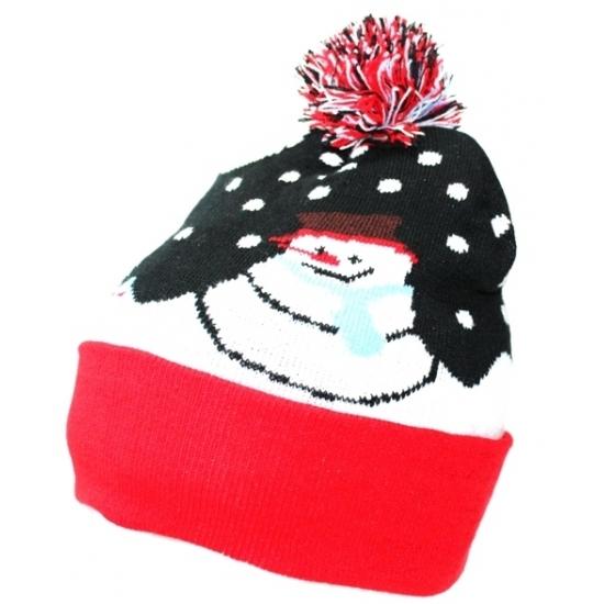 Image of Beanie muts met sneeuwpop