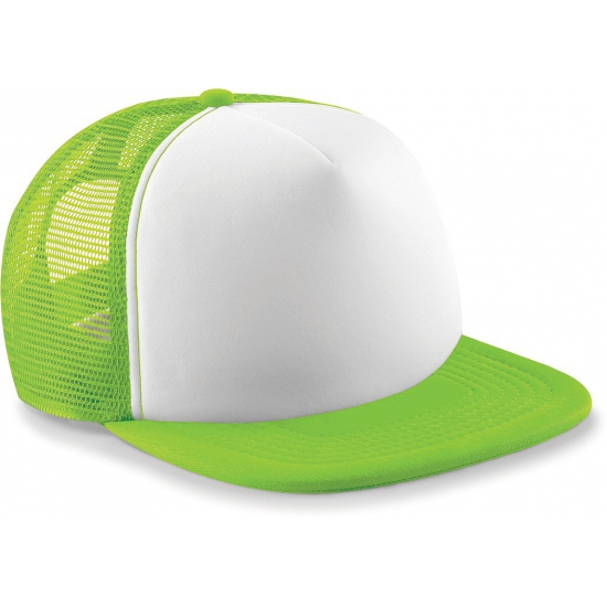 Image of Beechfield trucker pet lime groen