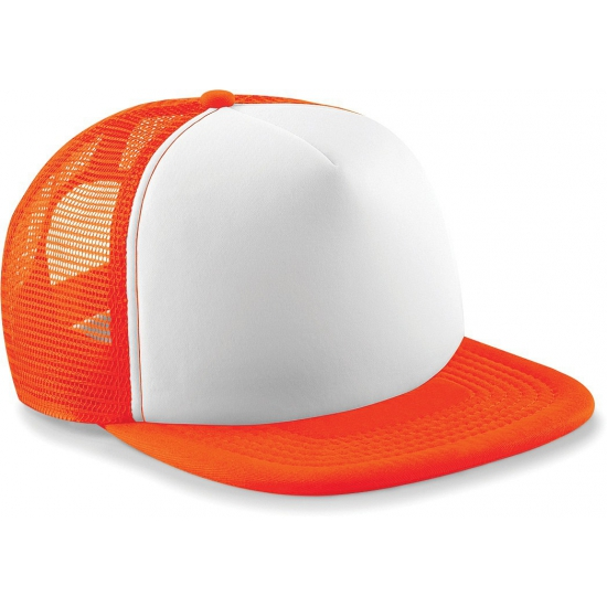 Image of Beechfield trucker pet oranje