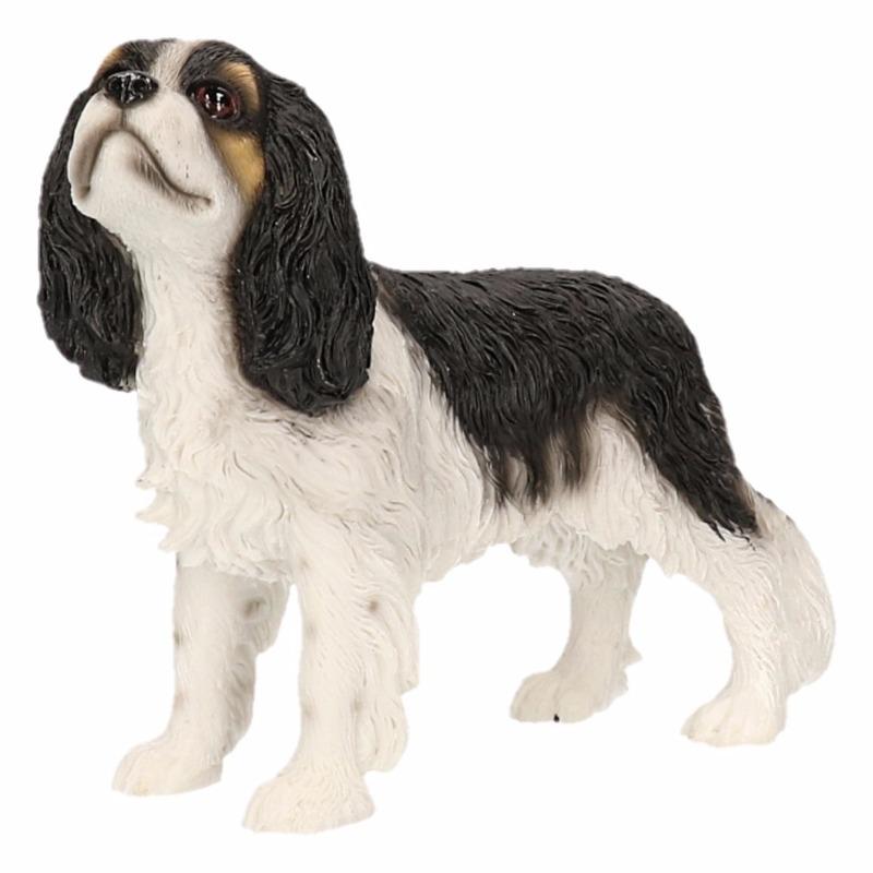 Image of Beeldje Cavalier King Charles zwart wit 14 cm