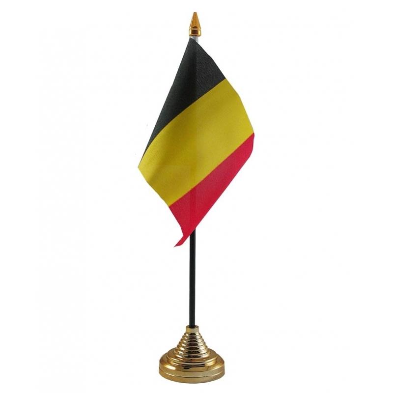 Image of Belgie vlaggetje voor op tafel