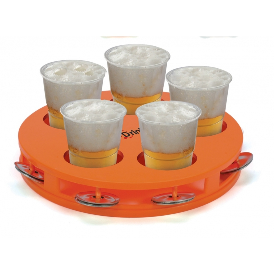 Bier dienblad oranje tamboerijn