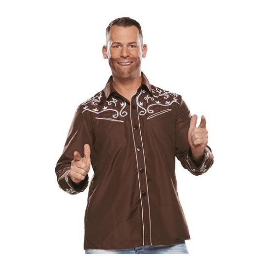Image of Bierfeest overhemd bruin voor heren