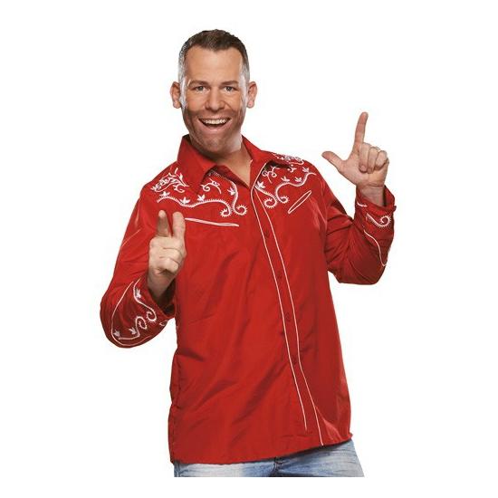 Image of Bierfeest overhemd rood voor heren