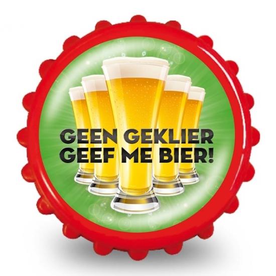 Image of Bieropener geen geklier geef me bier