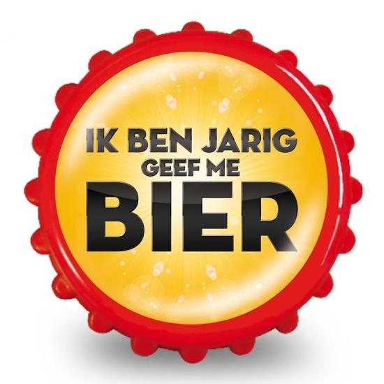 Image of Bieropener jarig geef me bier