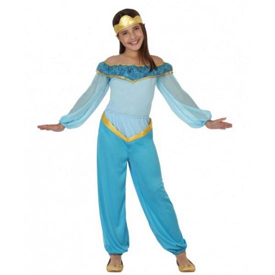Blauw arabische prinses kostuum. blauw arabische prinses kostuum inclusief hoofdband. materiaal: 100% ...