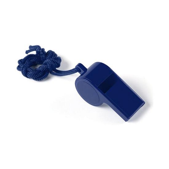 Image of Blauw fluitje aan koord