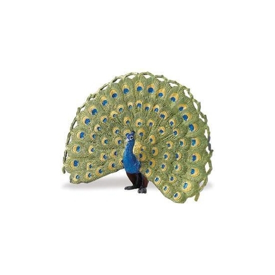 Image of Blauw/groene pauw 11cm