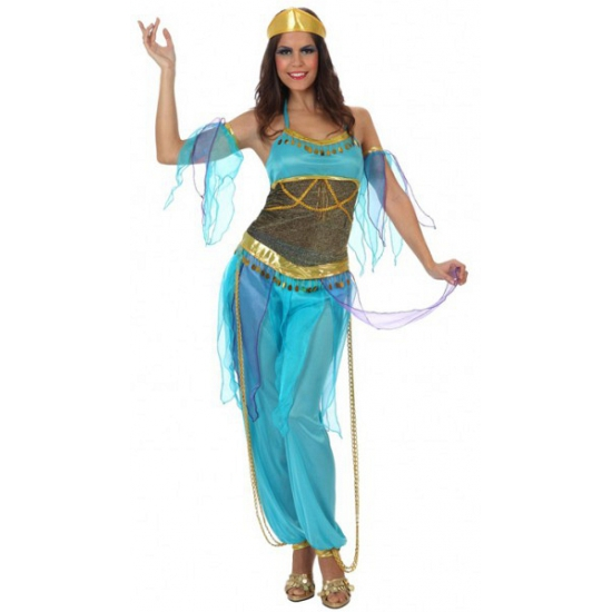 Image of Blauw harem carnavalskleding voor dames
