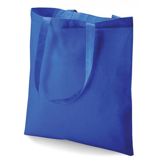 Image of Blauw katoenen tasje