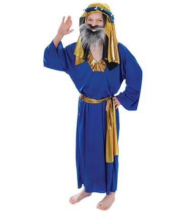 Drie koningen kostuum blauw voor kids. kinder kostuum in de kleur blauw van een van de drie wijzen uit het ...